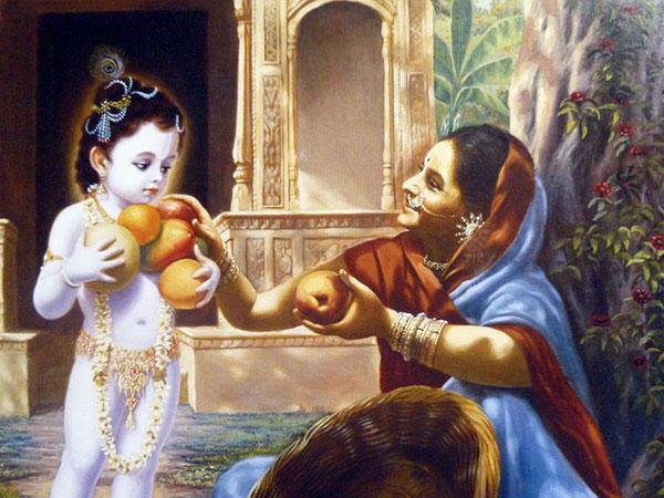Glorious Fruit Vendor who gave mangoes to Krishna